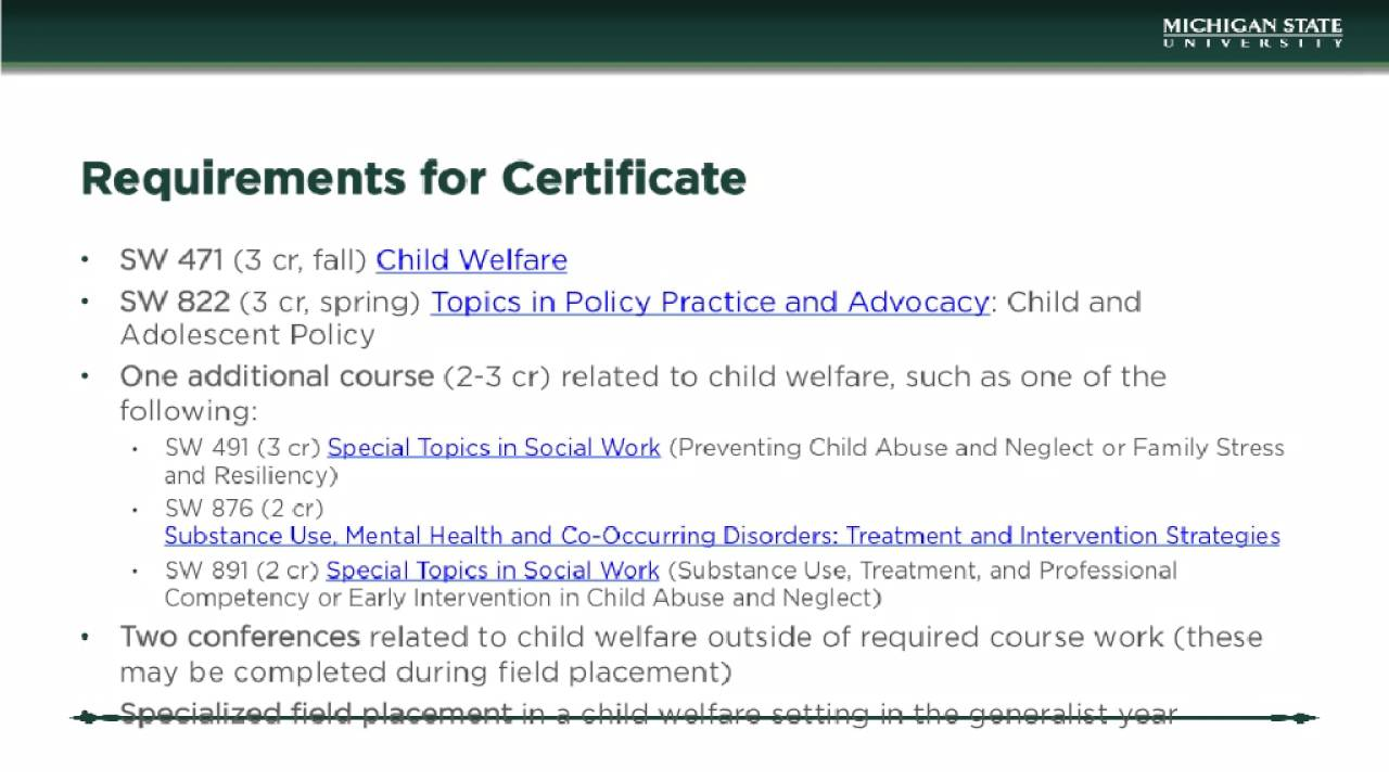 What are child welfare certificate programs social work degree how to find child welfare certificate programs 1betcityfo Image collections